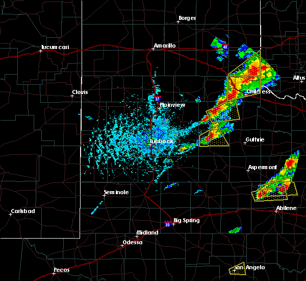 Radar Image for Severe Thunderstorms near Dickens, TX at 4/11/2020 6:00 PM CDT
