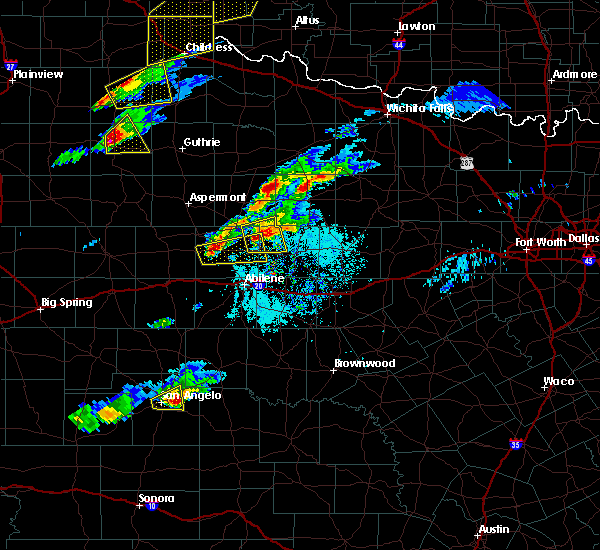 Radar Image for Severe Thunderstorms near Lueders, TX at 4/11/2020 6:01 PM CDT