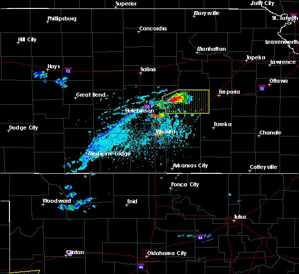 Radar Image for Severe Thunderstorms near Strong City, KS at 4/11/2020 6:09 PM CDT
