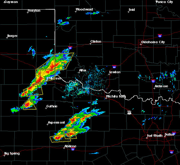 Radar Image for Severe Thunderstorms near Hollis, OK at 4/11/2020 6:09 PM CDT