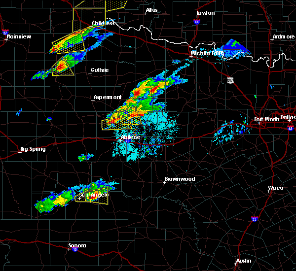 Radar Image for Severe Thunderstorms near Lueders, TX at 4/11/2020 6:11 PM CDT
