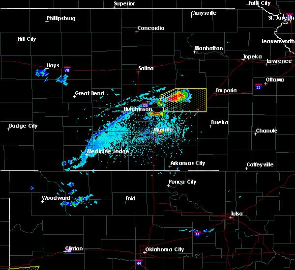 Radar Image for Severe Thunderstorms near Strong City, KS at 4/11/2020 6:14 PM CDT
