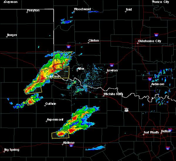 Radar Image for Severe Thunderstorms near East Duke, OK at 4/11/2020 6:20 PM CDT