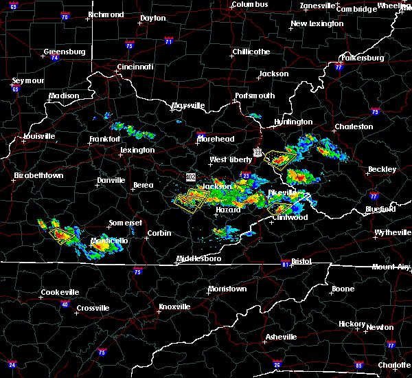 Radar Image for Severe Thunderstorms near Booneville, KY at 6/25/2015 7:50 PM EDT