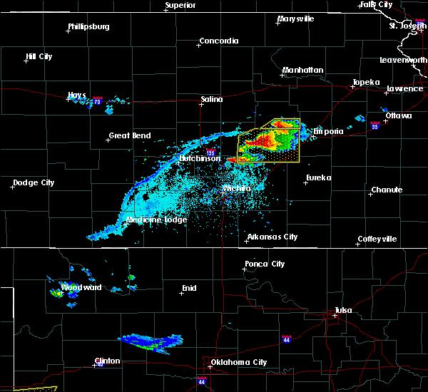 Radar Image for Severe Thunderstorms near Strong City, KS at 4/11/2020 6:41 PM CDT