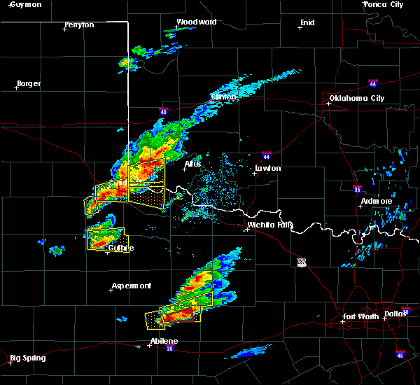 Radar Image for Severe Thunderstorms near Blair, OK at 4/11/2020 6:52 PM CDT