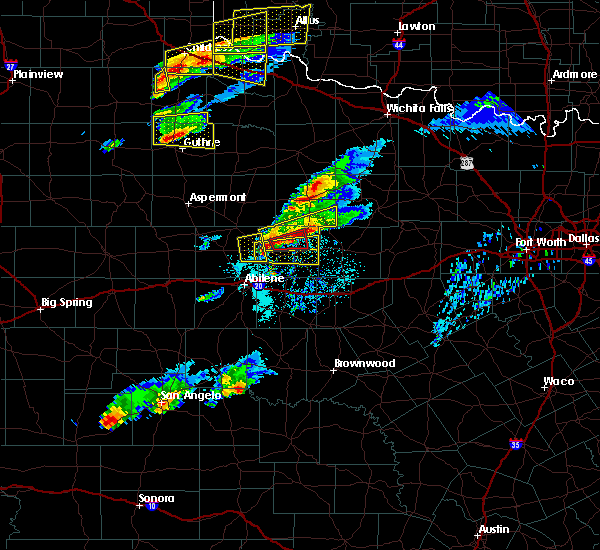 Radar Image for Severe Thunderstorms near Lueders, TX at 4/11/2020 6:52 PM CDT