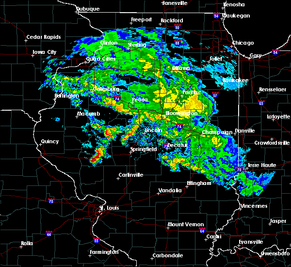 Radar Image for Severe Thunderstorms near Murrayville, IL at 4/11/2020 7:00 PM CDT