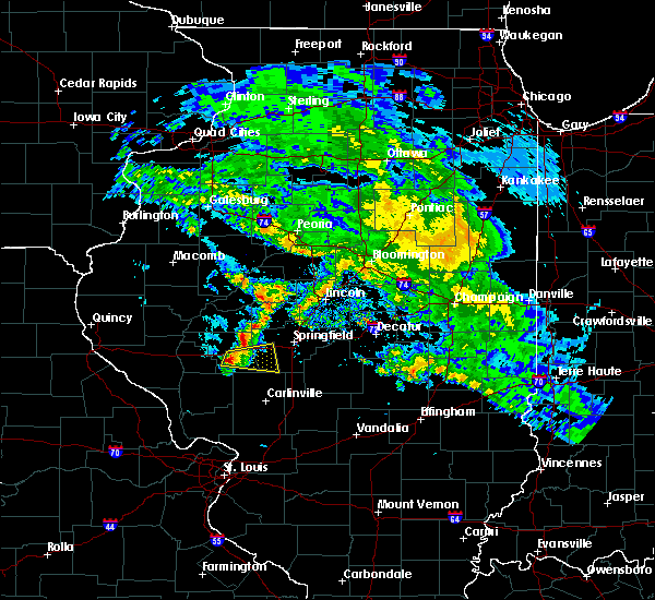 Radar Image for Severe Thunderstorms near Murrayville, IL at 4/11/2020 7:14 PM CDT