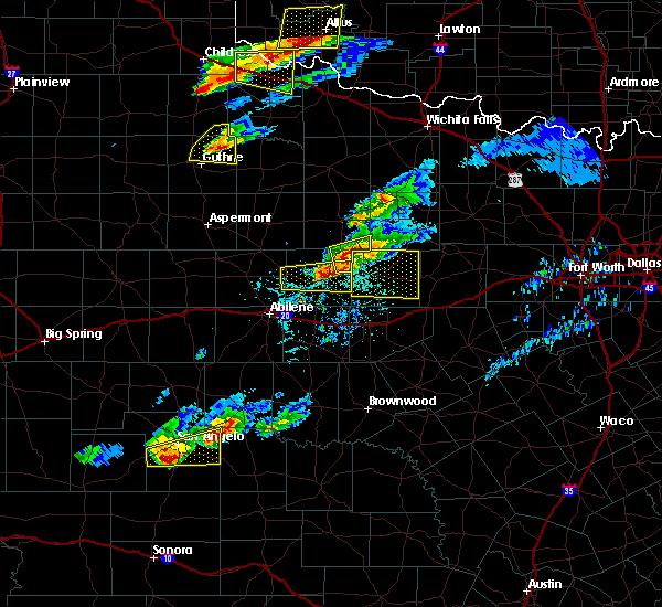 Radar Image for Severe Thunderstorms near Breckenridge, TX at 4/11/2020 7:28 PM CDT