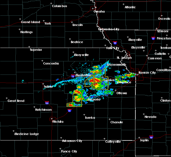 Radar Image for Severe Thunderstorms near Hoyt, KS at 4/11/2020 7:43 PM CDT