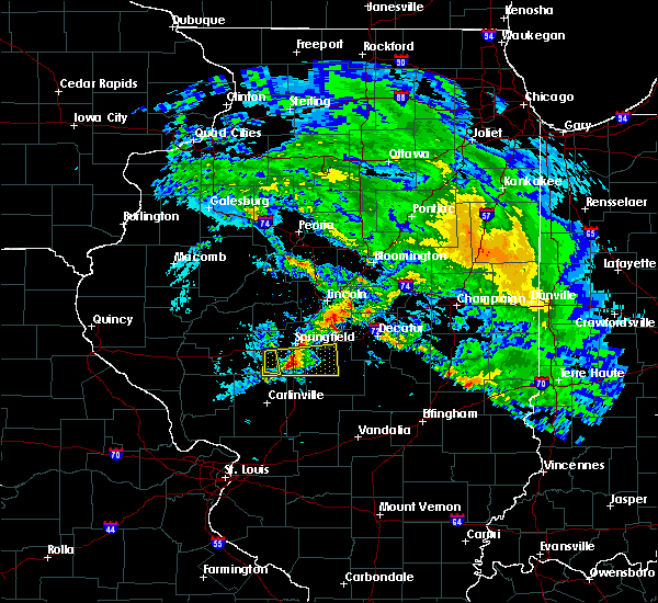 Radar Image for Severe Thunderstorms near Divernon, IL at 4/11/2020 7:48 PM CDT