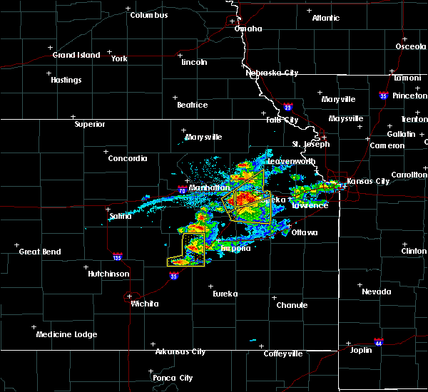 Radar Image for Severe Thunderstorms near Hoyt, KS at 4/11/2020 7:49 PM CDT