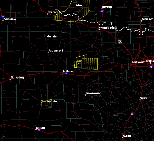 Radar Image for Severe Thunderstorms near Breckenridge, TX at 4/11/2020 7:49 PM CDT