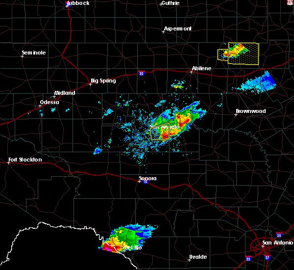 Radar Image for Severe Thunderstorms near Eden, TX at 4/11/2020 7:55 PM CDT