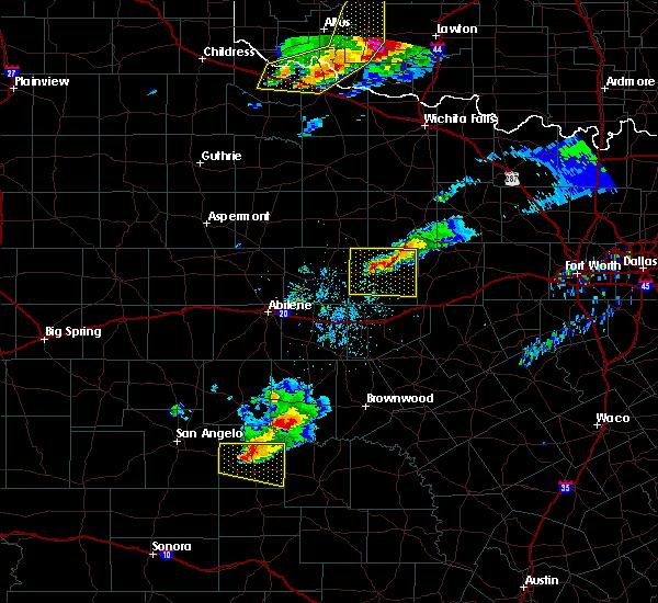 Radar Image for Severe Thunderstorms near Breckenridge, TX at 4/11/2020 8:22 PM CDT