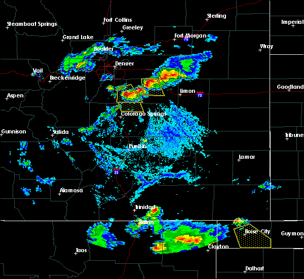 Radar Image for Severe Thunderstorms near Black Forest, CO at 6/25/2015 5:57 PM MDT