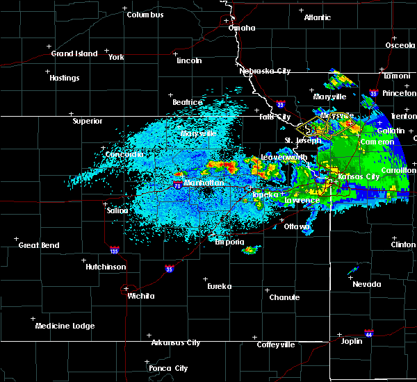 Radar Image for Severe Thunderstorms near Hoyt, KS at 4/11/2020 9:43 PM CDT