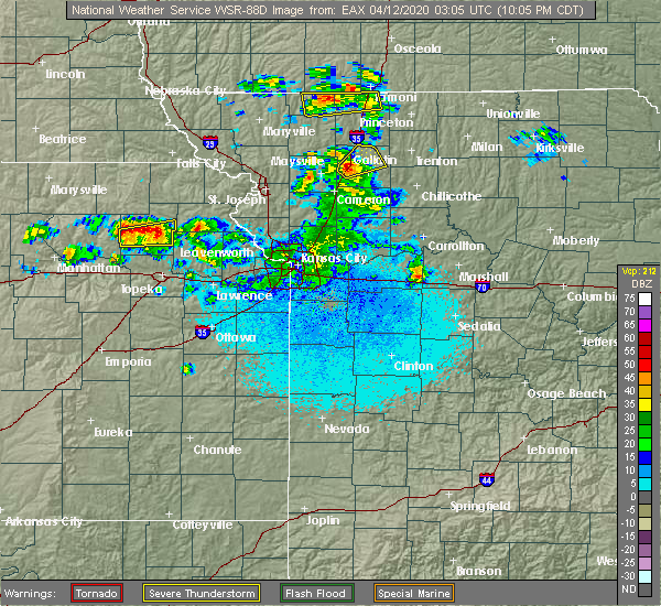 Radar Image for Severe Thunderstorms near Coffey, MO at 4/11/2020 10:08 PM CDT