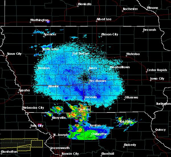 Radar Image for Severe Thunderstorms near Davis City, IA at 4/11/2020 10:23 PM CDT