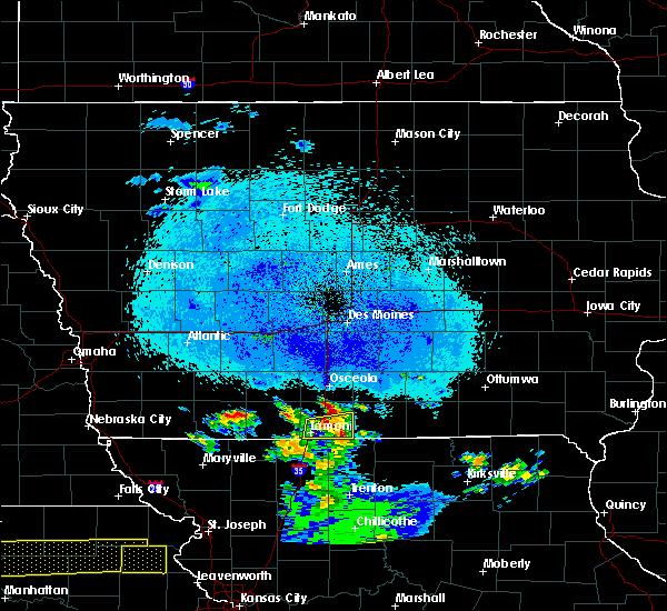 Radar Image for Severe Thunderstorms near Davis City, IA at 4/11/2020 10:36 PM CDT