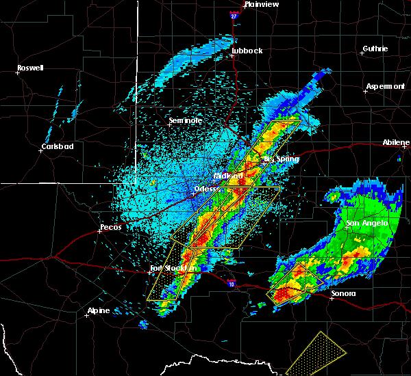 Radar Image for Severe Thunderstorms near Garden City, TX at 4/12/2020 1:16 AM CDT