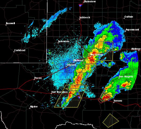 Radar Image for Severe Thunderstorms near Garden City, TX at 4/12/2020 1:48 AM CDT