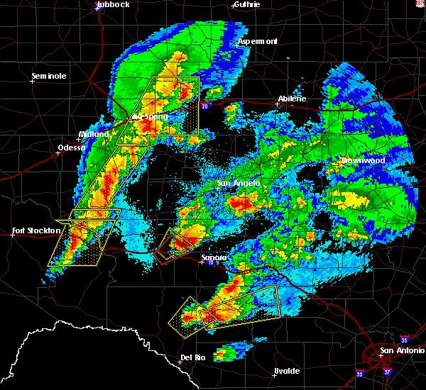 Radar Image for Severe Thunderstorms near Eldorado, TX at 4/12/2020 2:01 AM CDT