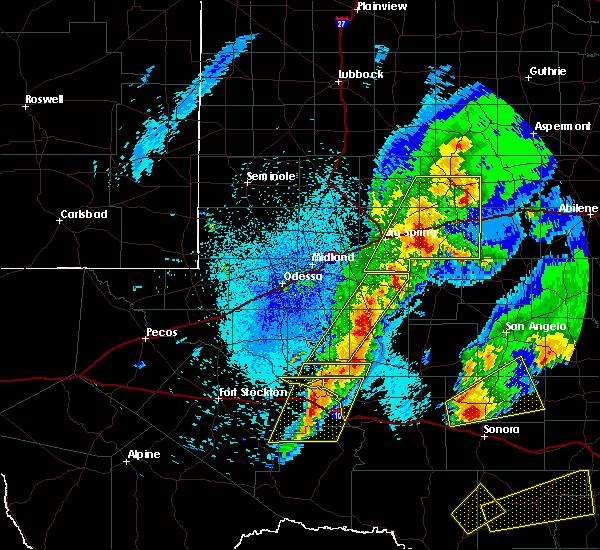 Radar Image for Severe Thunderstorms near Big Lake, TX at 4/12/2020 2:07 AM CDT