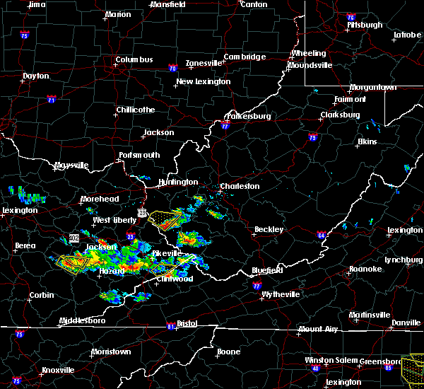 Radar Image for Severe Thunderstorms near Williamson, WV at 6/25/2015 8:00 PM EDT