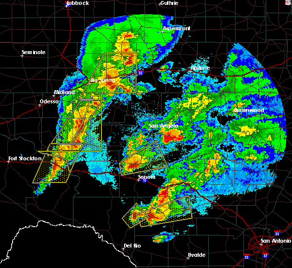 Radar Image for Severe Thunderstorms near Eldorado, TX at 4/12/2020 2:13 AM CDT