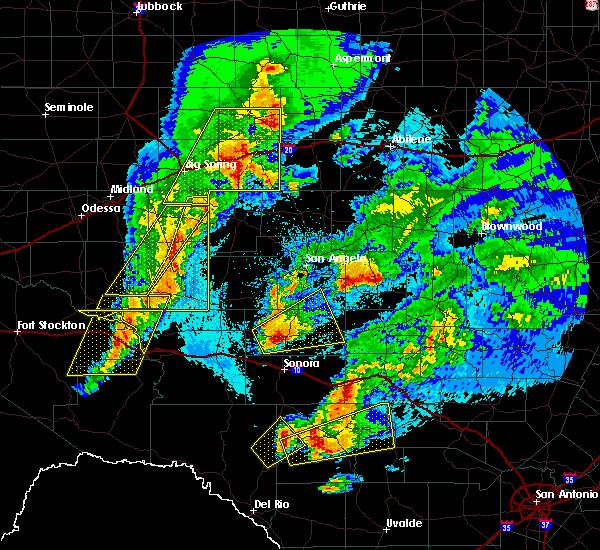 Radar Image for Severe Thunderstorms near Eldorado, TX at 4/12/2020 2:16 AM CDT
