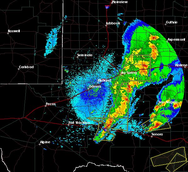 Radar Image for Severe Thunderstorms near Big Lake, TX at 4/12/2020 2:33 AM CDT