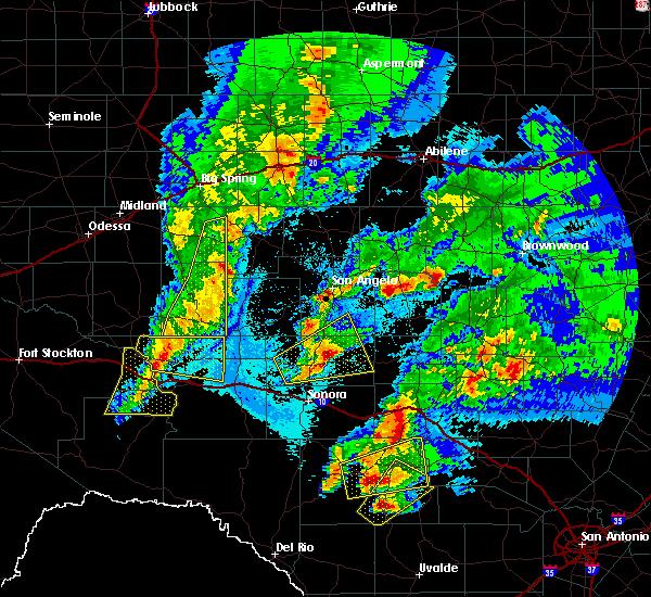 Radar Image for Severe Thunderstorms near Eldorado, TX at 4/12/2020 2:43 AM CDT
