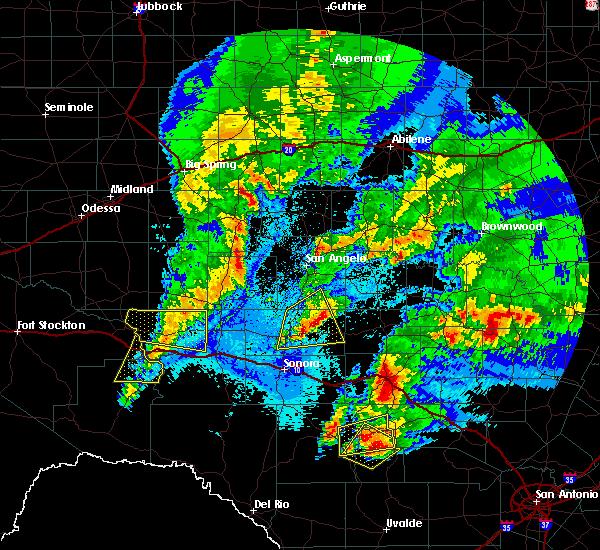 Radar Image for Severe Thunderstorms near Eldorado, TX at 4/12/2020 2:56 AM CDT