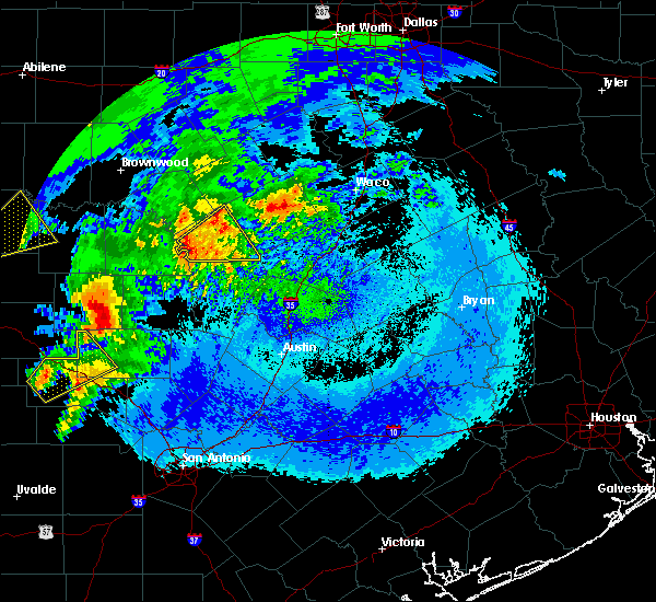 Radar Image for Severe Thunderstorms near Lometa, TX at 4/12/2020 3:55 AM CDT