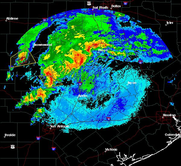 Radar Image for Severe Thunderstorms near Buchanan Dam, TX at 4/12/2020 4:37 AM CDT