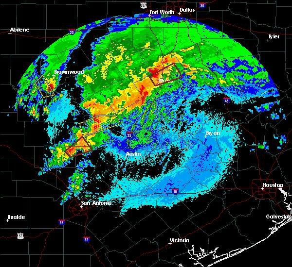 Radar Image for Severe Thunderstorms near Burnet, TX at 4/12/2020 5:01 AM CDT