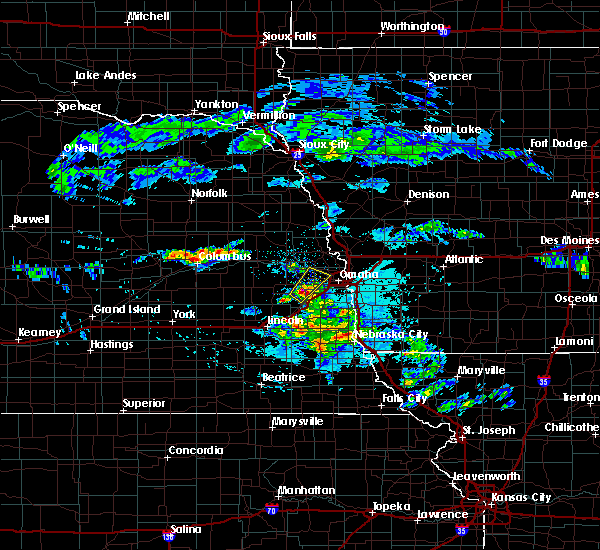 Radar Image for Severe Thunderstorms near Omaha, NE at 4/12/2020 5:54 AM CDT