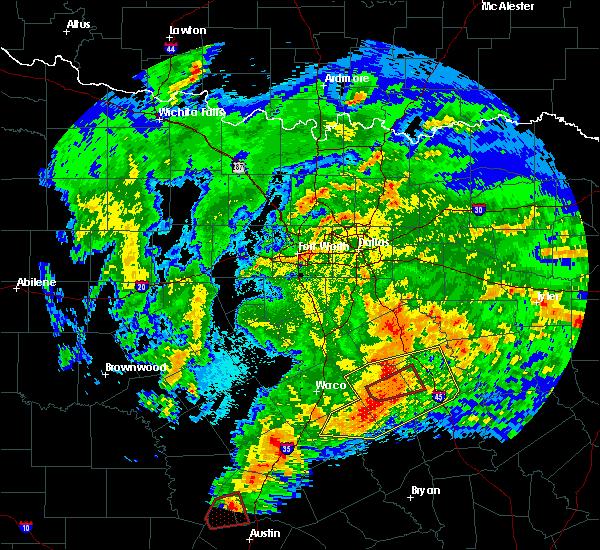 Radar Image for Severe Thunderstorms near Kirvin, TX at 4/12/2020 6:12 AM CDT