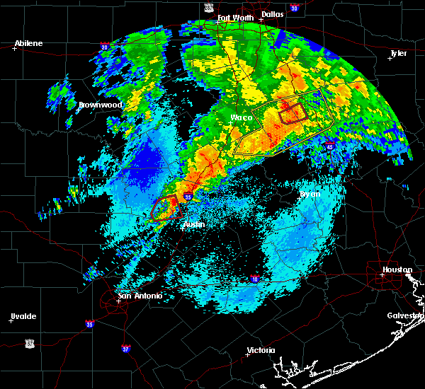 Radar Image for Severe Thunderstorms near Teague, TX at 4/12/2020 6:15 AM CDT