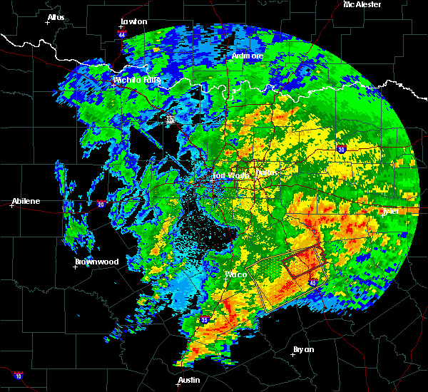 Radar Image for Severe Thunderstorms near Eustace, TX at 4/12/2020 6:39 AM CDT