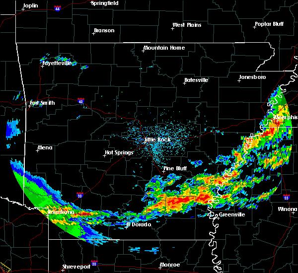Radar Image for Severe Thunderstorms near Watson, AR at 4/12/2020 7:23 AM CDT