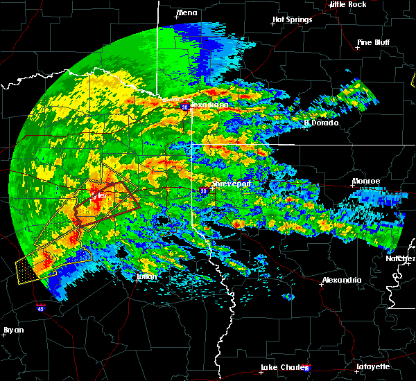 Radar Image for Severe Thunderstorms near Noonday, TX at 4/12/2020 7:36 AM CDT