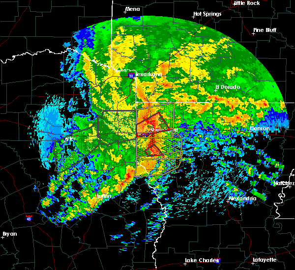 Radar Image for Severe Thunderstorms near Grand Cane, LA at 4/12/2020 9:49 AM CDT