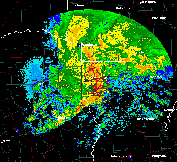 Radar Image for Severe Thunderstorms near Bryceland, LA at 4/12/2020 10:01 AM CDT