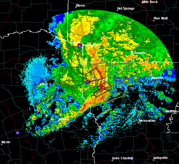 Radar Image for Severe Thunderstorms near Homer, LA at 4/12/2020 10:07 AM CDT
