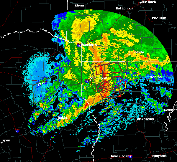 Radar Image for Severe Thunderstorms near Doyline, LA at 4/12/2020 10:16 AM CDT