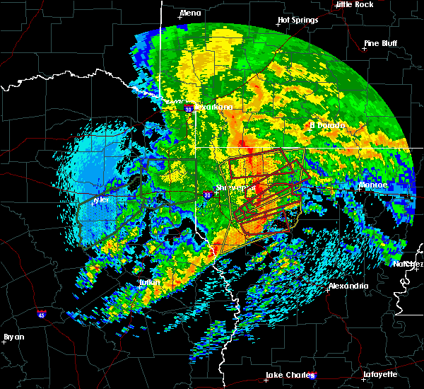Radar Image for Severe Thunderstorms near Doyline, LA at 4/12/2020 10:25 AM CDT