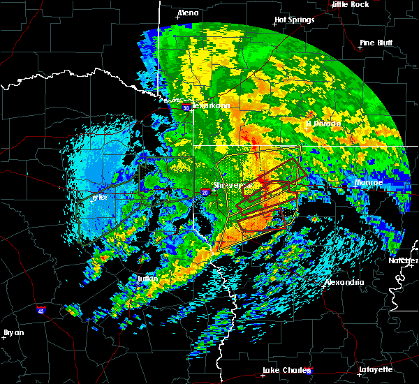 Radar Image for Severe Thunderstorms near Homer, LA at 4/12/2020 10:30 AM CDT